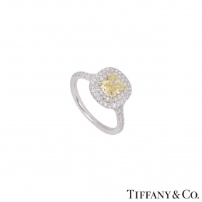 Tiffany & Co. Soleste Fancy Intense Yellow Diamond Ring 0.92ct